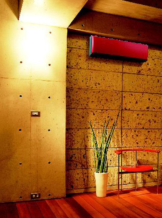 Klimaanlagenbau im roten Design